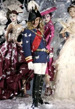 Le designer John Galliano lors du défilé Haute Couture Printemps/Été 2007