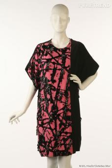 Robe inspirée de l'artiste Jackson Pollock, par Marc Bohan en 1985.